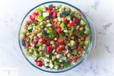 5 Minute Chopped Chickpea Salad
