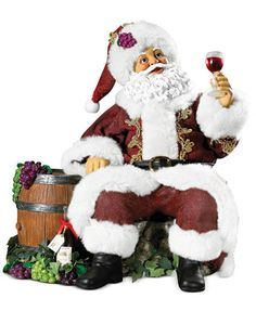 Kurt Adler Wine Santa Ornament