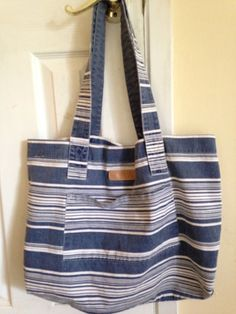 Vintage Esprit tote  big striped carryall by SecondhandFancyAli, $25.00