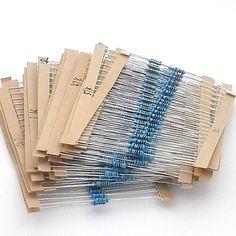 99002 무료 배송 600 개 1/4 와트 1% 20 종류의 각 값 금속 필름 저항 구색 키트 세트 팩 전자 diy 키트
