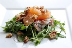 spring salad with proscuitto & grapefruit