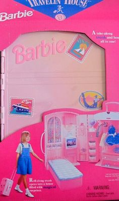 Barbie TRAVELIN' HOUSE TRUNK Roll Along HOUSE « Game Searches