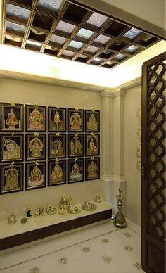 Interior Design by Shernavaz Interiors, Bangalore. Browse the largest collection of interior design photos designed by the finest interior designers in India. Mandir Design, Pooja Room Door Design, Temple Design For Home, Home Design, Layout Design, Design Ideas, Temple Room, Indian Interior Design, Interior Ideas