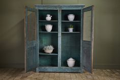 18th Century Blue Armoire - Decorative Collective