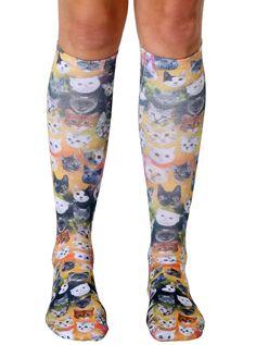 Galaxy Kitty Knee High Socks