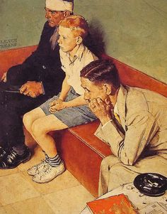 1937- Waiting Room- by Norman Rockwell by x-ray delta one, via Flickr