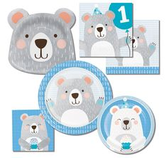 Use these cute cake plates to serve up desserts to your polar bear birthday party guests! Baby Shower Balloons, Birthday Balloons, 1st Birthday Parties, Balloon Party, Panda Themed Party, Bear Party, Celebration Balloons, Baby Shower Napkins, Panda Birthday
