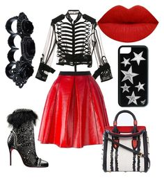 """""""Untitled #43"""" by jabriele on Polyvore featuring Sacai, Christian Louboutin, Marc Jacobs, Alexander McQueen and Dsquared2"""