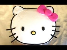 Easy Hello Kitty Cake HOW TO COOK THAT hello kitty cake Ann Reardon - YouTube