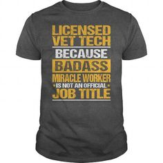 Awesome Tee For Licensed Vet Tech #long tee #winter sweater. SAVE  => https://www.sunfrog.com/LifeStyle/Awesome-Tee-For-Licensed-Vet-Tech-133674072-Dark-Grey-Guys.html?60505
