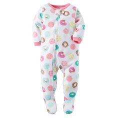 1-Piece Fleece PJs ($10) ❤ liked on Polyvore featuring baby girl