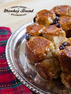 Cranberry Cardamom Monkey Bread with Clementine Glaze (curated for BlogHer Loves Holiday Parties sponsored by Cracker Barrel Cheddar Perfected)