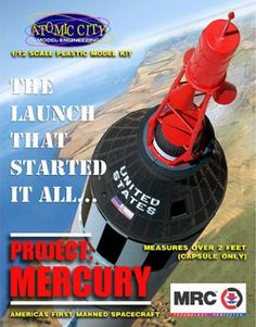 Pre-Built Model Spacecraft - Model Rectifier Corporation Project Mercury Spacecraft Model Building Kit ** Want additional info? Click on the image.