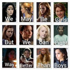 These girls change our minds, our things and our lives … It is impossible to forget … – girl power Girl Power Quotes, Girl Quotes, Book Memes, Book Quotes, Hunger Games, Gina Weasley, Citations Film, Fandom Quotes, Jenifer Lawrence