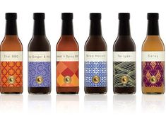 What a beautiful design by Frank Aloi for this line of sauces: