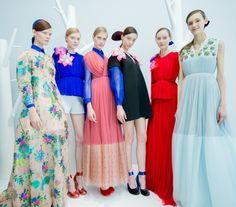Delpozo Fall/Winter 2015 Trunkshow Backstage on Moda Operandi
