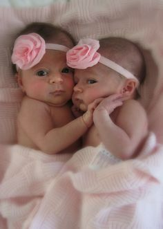 Baby Girl Twins reminds me of my baby girls. They were tiny and pink just like these little precious babies. Mine are 37 this year. Cristy Velazquez