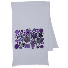 Snowflake Art Abstract Scarf Wrap #scarf #snowflakes #snow #art #abstract #winter And www.zazzle.com/inspirationrocks*