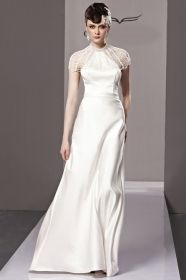modest white halter long evening dress floor length two pieces