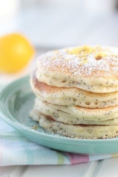 Lemon Ricotta Pancakes - made these today and they are YUM (JAZ)