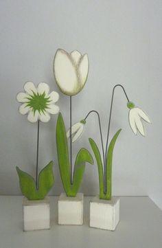 *Bestellartikel*kleine+Sockelblumen+,+3Stck.+von+Woodlouse+auf+DaWanda.com