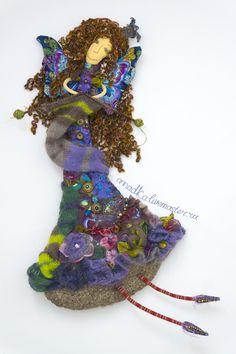 Вязальная фея - фиолетовый,кукла,портретная кукла,кукла ручной работы