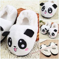 4bc177654fe Women Emoji Indoor Winter Panda Slippers Furry Home Cartoon Animal Shoes  Fuzzy 4 1