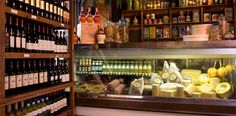Deli counter and wine selection at Vinny Vanucchis, a Galena Italian restaurant. Got to go back. As soon as you entered you could smell and taste the fantastic olive oil immediately. The aroma blew me away.  I fell in love with this place