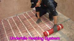 An underfloor heating system is easy to install, maintain and cost efficient. It requires little space and can mount on under floor tile. It heats the entire floor area and also warms the room as well.