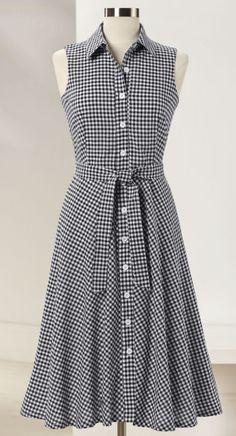 Gingham Shirtdress (NE-208)