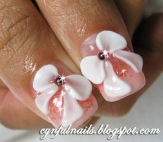 3D nail art-SO pretty, I really wanna learn how to do these arcylic nail art