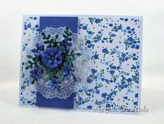 Flowers and Doilies card by Kittie Caracciolo