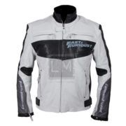 Furious 7 Vin Diesel Red Carpet White Biker Leather Jacket on SALE with FREE Shipping  http://leathermadness.com/products/furious-7-vin-diesel-white-leather-jacket/  #Furious7 #Fast&Furious #VinDiesel #LM #LeatherMadness #Sale #Deals #FreeShipping