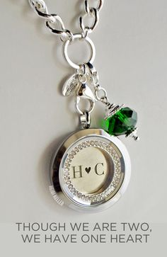 """OrigamiOwl prism face locket and plate inscribed with initials. This would make such a fabulous wedding, anniversary, or """"just because"""" gift!!www.jessicablum.origamiowl.com"""