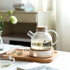 Scandinavian Glass Teapot Set, You are able to enjoy morning meal or various time intervals using tea cups. Tea cups also provide decorative features. Whenever you go through the tea cup types, you will dsicover this clearly. Tea Light Candles, Tea Lights, Ceramic Stove Top, Heat Resistant Glass, Glass Teapot, Afternoon Tea Parties, Tea Pot Set, Kitchen Items, Kitchen Jars