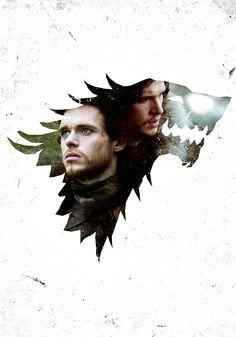 Robb Stark & Jon Snow ♥ #GameofThrones #JonSnow