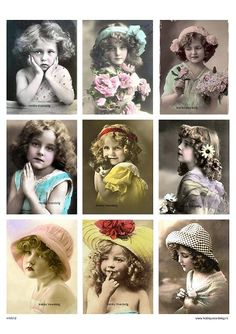 vintage knipvel 12 girls
