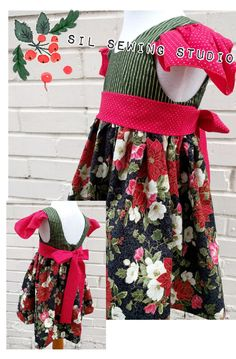 Girls Christmas dress Poinsettias 3T ready to ship. Holiday dress 3T Christmas dress Poinsettias Holiday dress Size 3T ready to ship by SilSewingStudio on Etsy