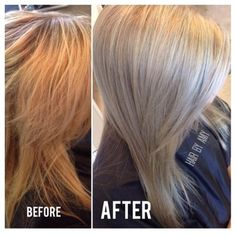 wella 10a before and after dark brown hairs