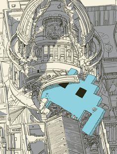 space invaders illustration