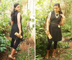 How-much-is-too-much Gold Challenge! Black and Gold look for @Godrej Cinthol Relish the Challenge contest!!!