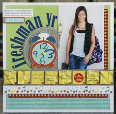 That's scrapbook paper made to look like post it notes. Love the look, I want to try it with real post it notes.