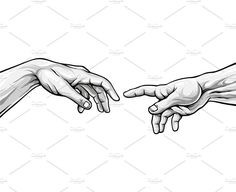 Adam hands by PrettyVectors on Line Art Drawings, Art Sketchbook, Art Drawings, Hand Outline, Drawing Sketches, Art, How To Draw Hands, Pencil Art Drawings, Aesthetic Art