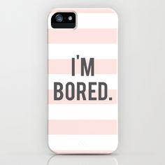 Bored iPhone & iPod Case by Miss Modern Shop - $35.00