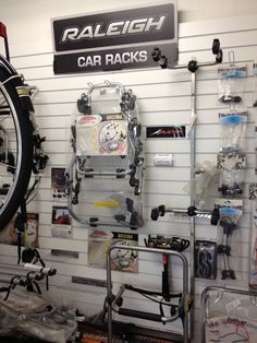 Bicycle car racks at Cyclelife