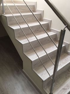 Steel Railing Design, Steel Stair Railing, Stairs Tiles Design, Tile Design, House Furniture Design, Home Furniture, House Design, Laminate Stairs, Tiled Staircase