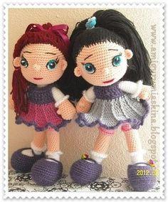 Amigurumi Aşkına Örgü Oyuncaklarım: Amigurumi tatlı kızım
