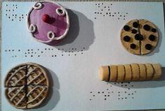 """Rompecabezas, Braille, """"Fracciones""""."""