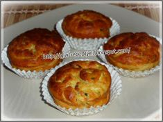 Gizi-receptjei: Cukkinis-juhtúrós muffin. Winter Food, Muffins, Bacon, Breakfast, Main Courses, Morning Coffee, Main Course Dishes, Muffin, Entrees