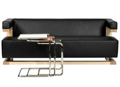 Walter Gropius was best known as the head of the Dessau Bauhaus. This Gropius three seat sofa, the F 51/3, is one of a handful of furniture designs for which he was responsible. It maintains the look